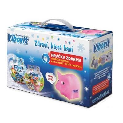 VIBOVIT vánoční balení Aqua 50 želé + Farma 50 želé + DÁREČEK lampička prasátko